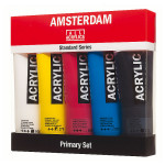 Acrylique Amsterdam 120 ml Pack Primaires + N&B