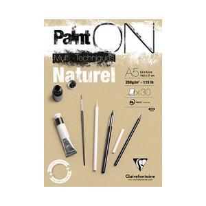 Bloc Paint'On papier Naturel 250 g/m² 30 F - 14,8 x 21 cm (A5)