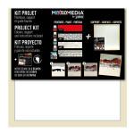 Atelier Mixed Media Kit project art panel + miroir