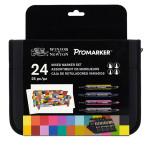 Marqueurs assortis 12 Promarker + 6 BrushMarker + 3 NeonMarker + 3 Metallic Marker