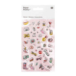 Stickers 3D Magical Summer Cool Icons x 38 pcs