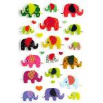 Autocollants relief Eléphants