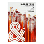 Bloc de toile 100% Coton 10 feuilles - 21 x 29,7 cm (A4)