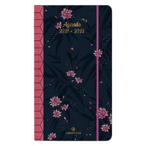 Agenda semainier Sakura 9,5 x 17,5 cm