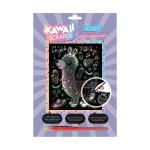 Carte à gratter Scraper holographique Kawaii Lama musicien