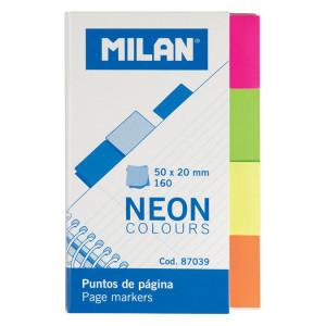 Bloc marque-pages coloris néon 160 pcs