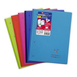 Bloc de cours 22,3 x 29,7 cm petits carreaux Q.5x5 160p perforées Koverbook