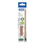 Crayons graphite hexagonaux HB avec gomme 12 pcs