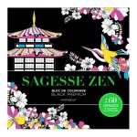 Bloc de coloriage Black Premium Sagesse zen